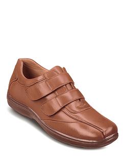 Mens Cushion Walk Twin Velcro With Gel Pad Shoe