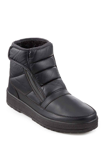 Dr Keller Wide Fit Thermal Lined All Weather Boot - Black