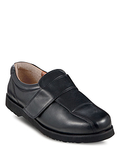 Mens Multi Fit Leather Touch Fasten Shoe