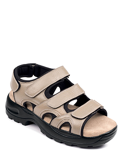 Triple Strap Leather Sandal