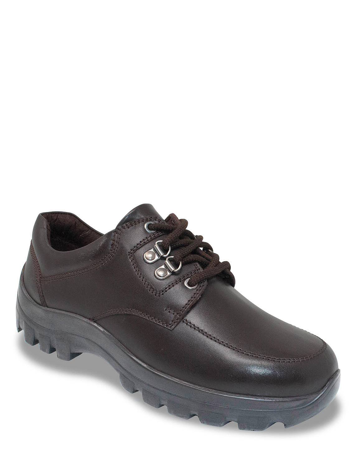 Chums Mens Leather Lace Wide Fitting Walking Shoe