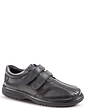 Mens Leather Dual Fit Twin Touch Fastening Shoe
