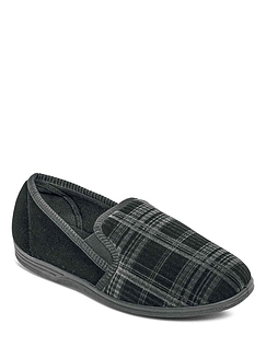 Washable Velour Slipper - Black