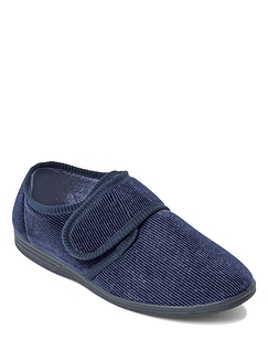 Washable Touch Fastening Slipper - Navy