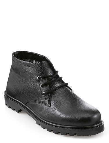 Mens Real Leather Wide Fit Lace Boot