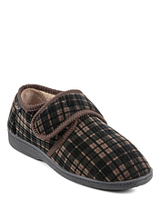 Dr Keller Wide Fit Velour Slipper
