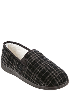 Mens Thermal Lined Slipper With Outdoor Sole