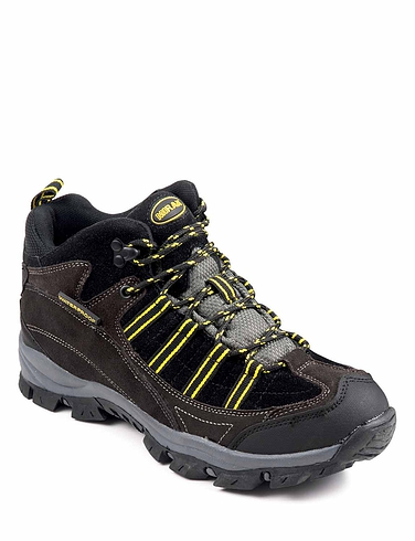Mens Waterproof Hiking Boot - Black