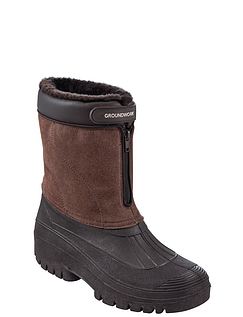 Cushion Walk Thermal Lined Zip Boot With Waterproof Base