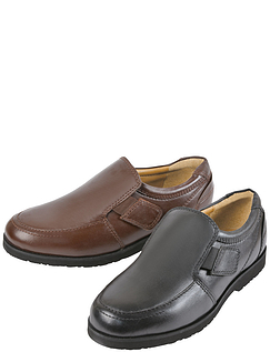 Leather Touch Fasten Comfort Shoe