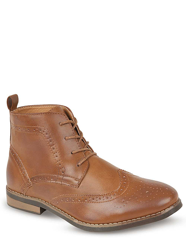 Authentic Lace-up Brogue Boot