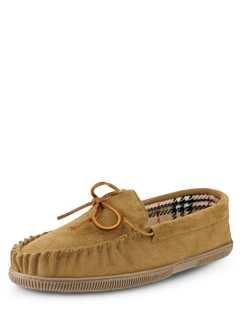 Suede Slipper With Outdoor Sole