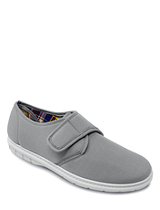 Dr Keller Wide Fit Touch Fasten Canvas Shoe