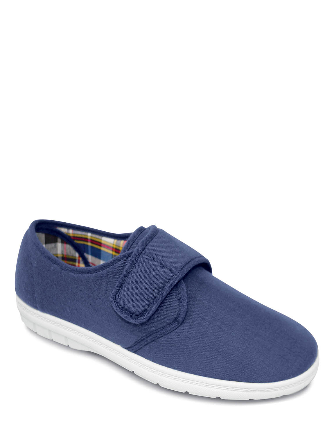 wide fit touch fasten canvas shoe chums