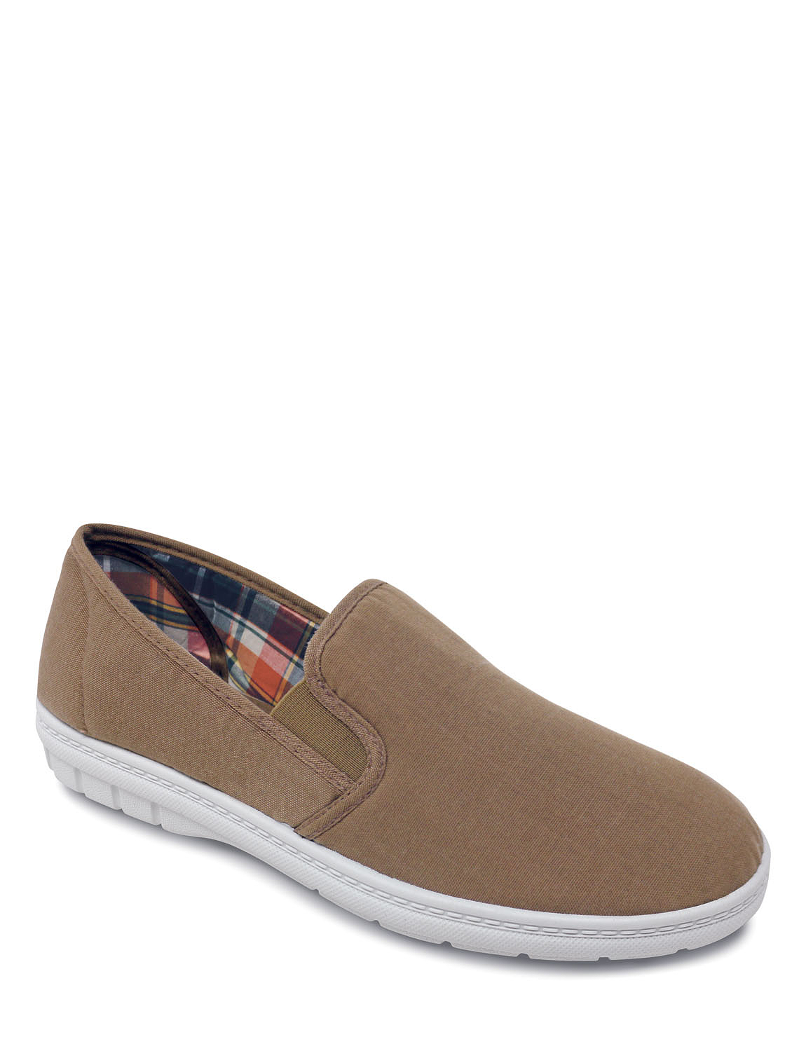 wide fit slip on canvas shoes chums