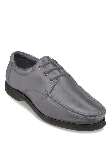 Wide Fit Leather Lace Shoe