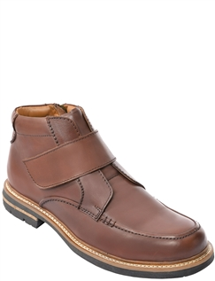 Leather Touch Fastening Walking Boot