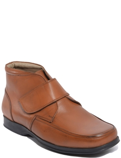 Leather Dual Fit Touch Fastening Boot