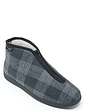 Dr Keller Zip Fastening Thermal Lined Boot Slipper