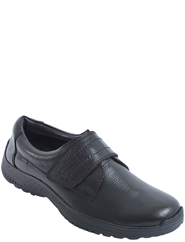 Leather Dual Fit Touch Fasten Shoe