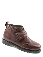 Wide Fit Leather Touch Fastening Boot