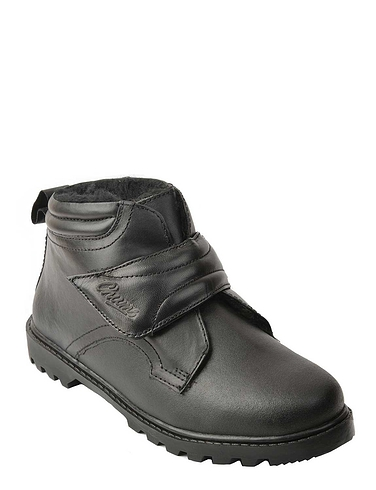 Leather Wide Fit Touch Thermal Lined Fasten Boot