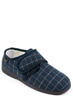 Dr Keller Wide Fit Thermal Lined Touch Fasten Slipper