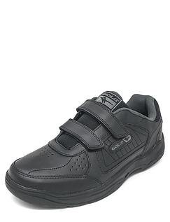 Leather Touch Fasten Wide Fit Trainer