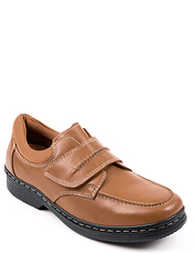Leather Touch Fasten Walking Shoe