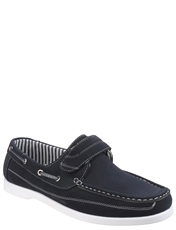 Dover Mens Touch Fasten Boat Shoe