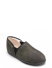 Freestep Faux Suede Fur Lined Slipper