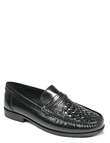 Leather Slip On Moccasin
