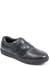 Leather Twin Touch Fastening Shoe
