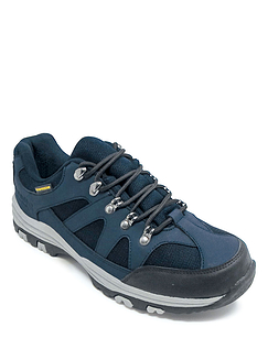 Cushion Walk Wide Fit  Waterproof Hiking Shoe - Navy