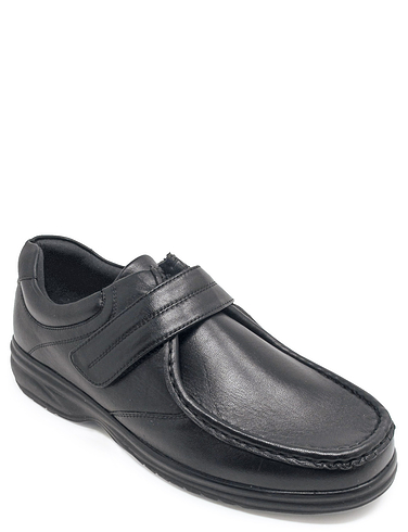 Leather Touch Fasten Moccasin Shoe