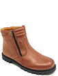 Mens Leather Sherpa Lined Twin Zip Boot