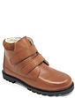 Leather Sherpa Lined Touch Fasten Boot