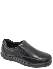 Leather Wide Fit Slip On Shoe