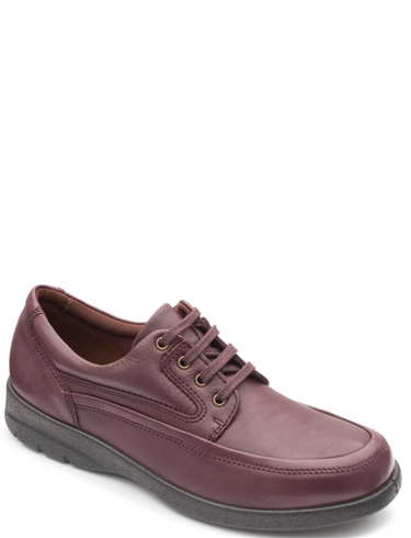 Padders Wide Fit Leather Lace Shoe