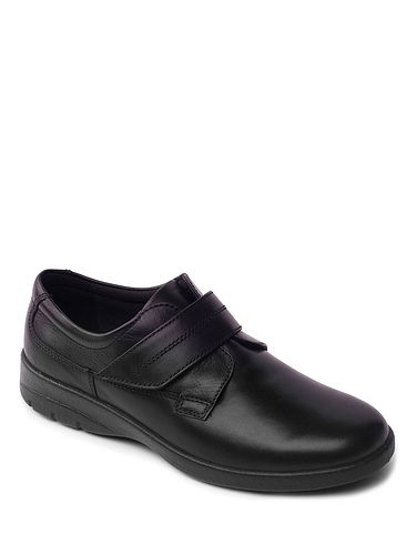 Padders Extra Wide Leather Touch Fasten Shoe