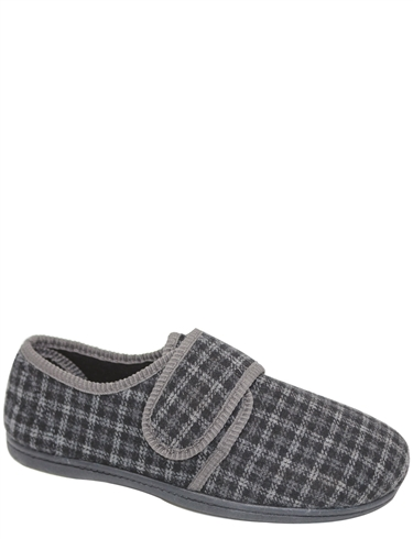Padders Wide Fit Touch Fasten Henry Slipper