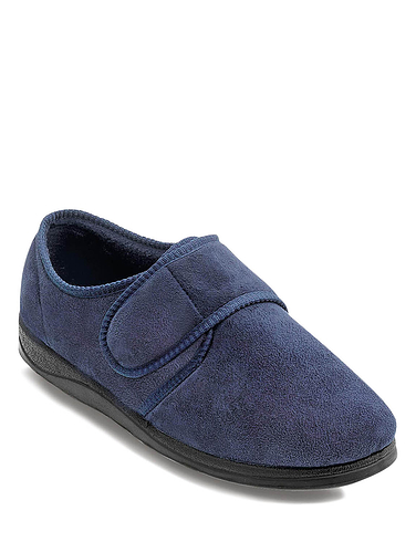 Wide Fit Touch Fasten Slipper
