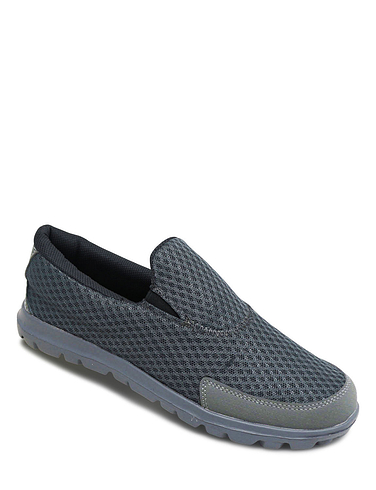 Pegasus Mesh Slip On Trainer Wide Fit