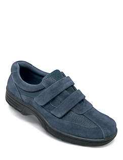Cushion Walk Wide Fit Touch Fasten Travel Shoe with Gel Pad