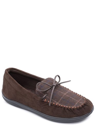 Mens Wide G Fit Padders Moccasin Style Lounge Slipper