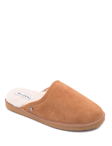 Mens Padders Wide G Fit Suede Mule Slipper