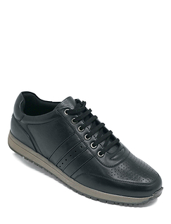 Leather Lace Trainer