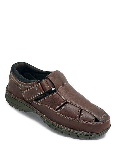 Wide Fit Leather Sandal Shoe