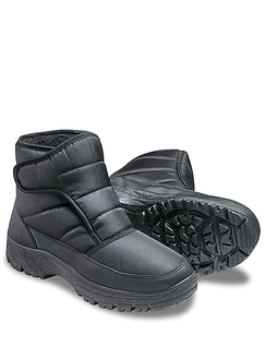 Men's Cushion Walk Wide Fit Snow Boot - Black