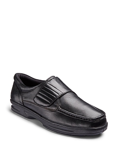 Mens Dr Keller Texas Wide Fit Leather Shoe - Black